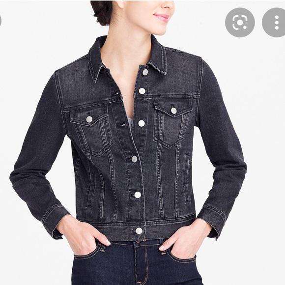 Jcrew black denim jacket